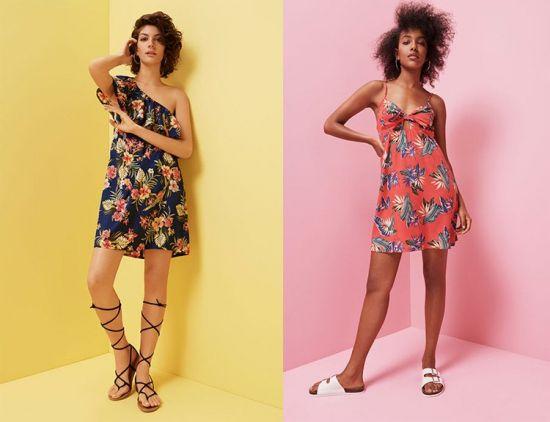 moda vestidos florales