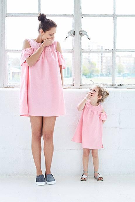 vestido rosa ropa mamá e hija