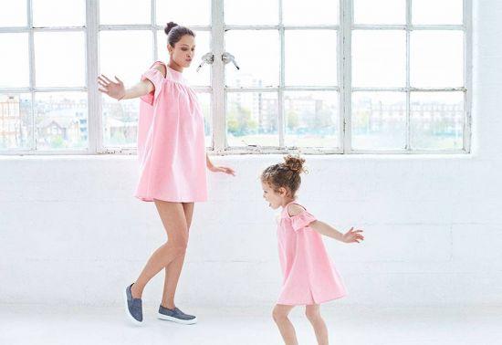 vestido rosa para niña