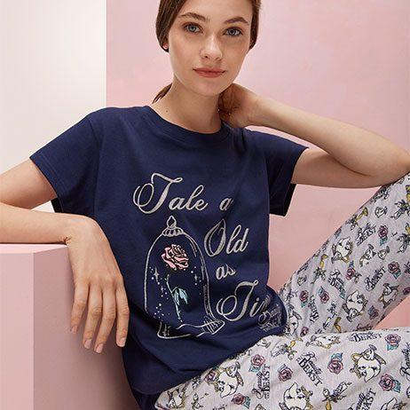 pijama bella y bestia