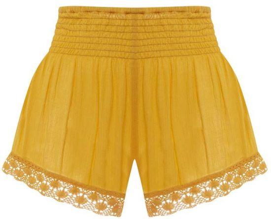 Short en amarillo para mujer