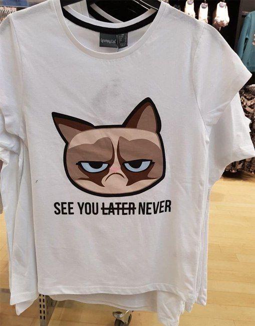 Camiseta grumpie cat