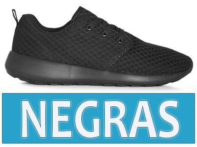 Zapatillas negras mujer baratas