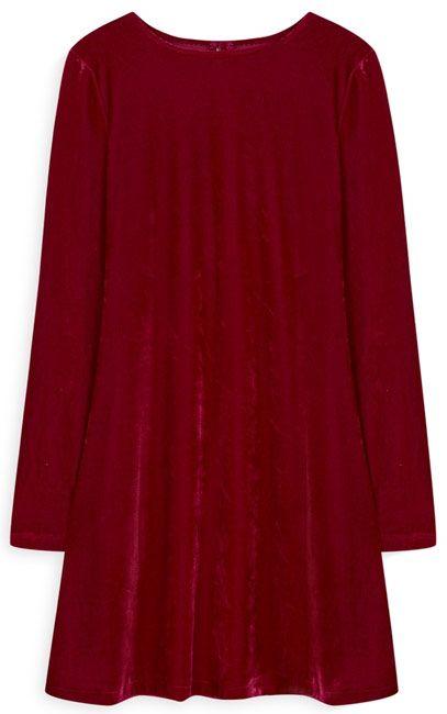 vestido velvet rojo