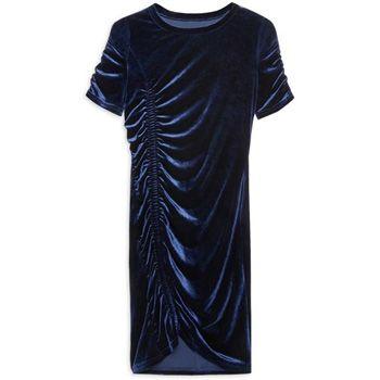 Vestido terciopelo azul marino