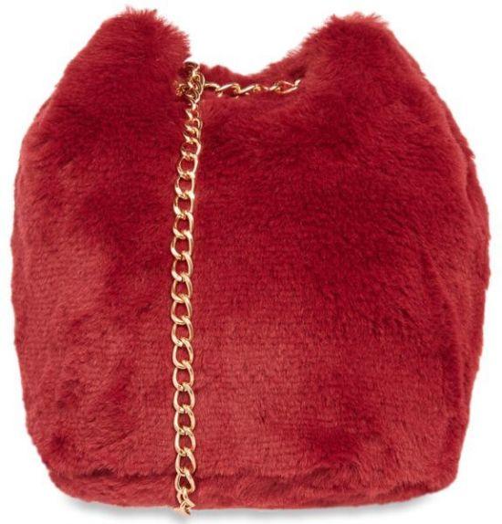 bolso rojo piel