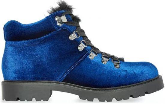 Botines azules de invierno
