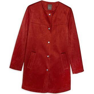 abrigo rojo rebajas