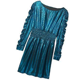 Vestido metalizado azul
