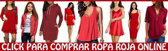 Comprar ropa roja