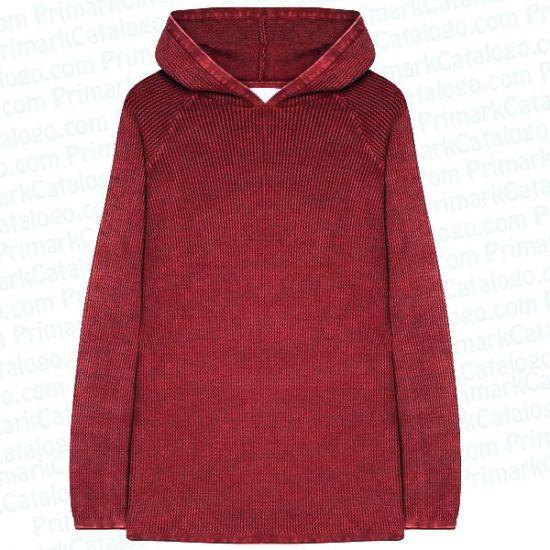 Sudadera con capucha roja para hombre