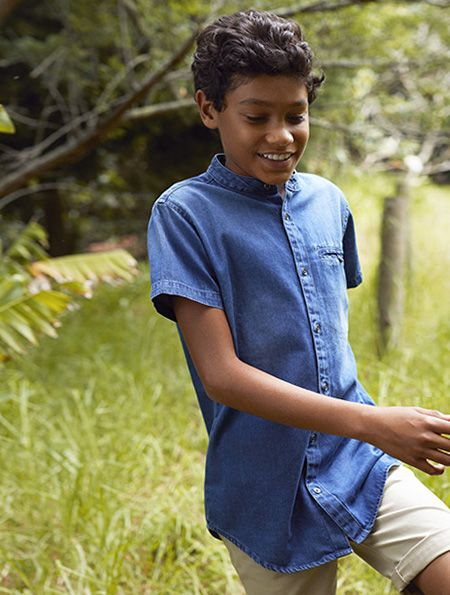 camisa vaquera chico