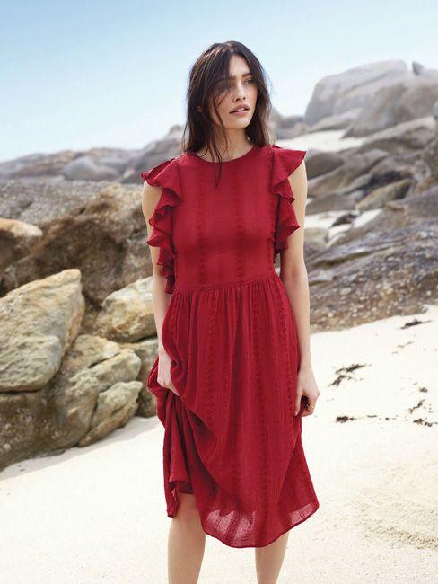 vestido de verano rojo
