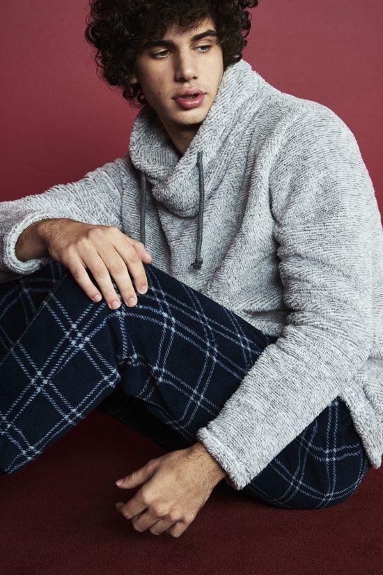 pijama azul marino y gris primark para hombre