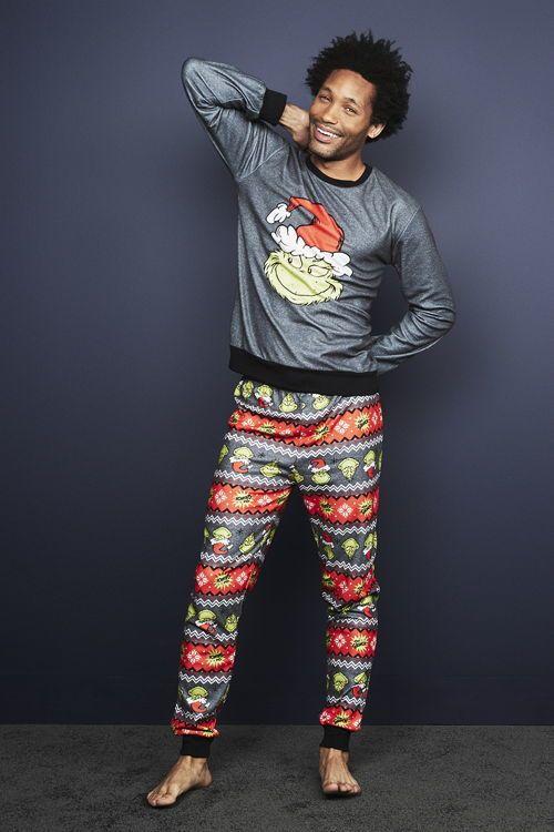 pijama de el grinch para hombre primark