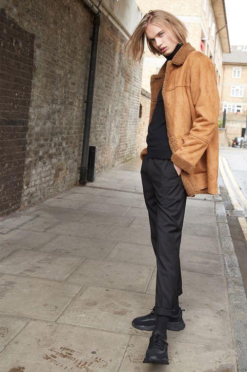 abrigo borreguito hombre