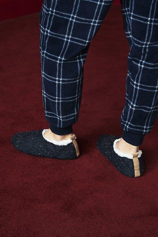 zapatillas calcetin para hombre azul marino