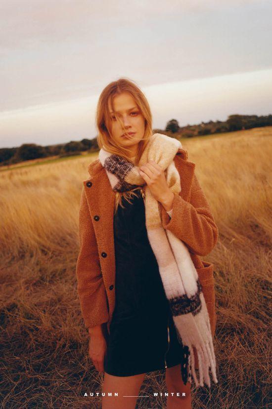 abrigo pichi bufanda primark otono invierno