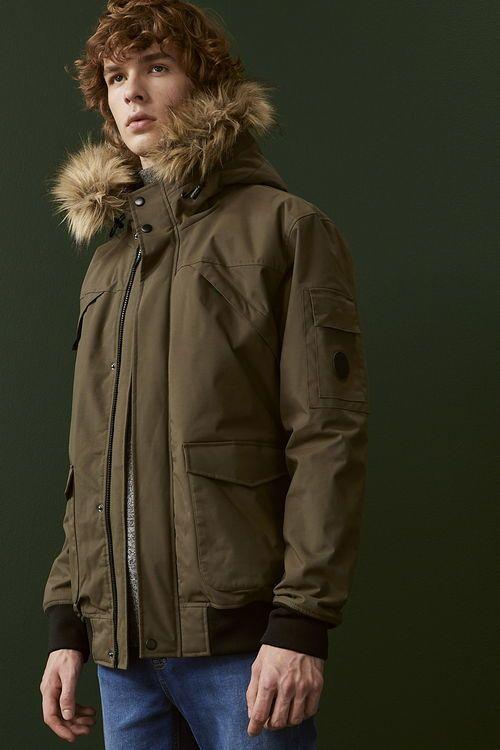 abrigo caqui de hombre primark