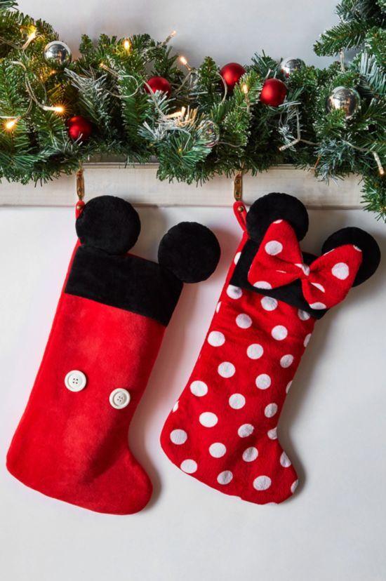 calcetin primark de navidad de mickey y minnie mouse