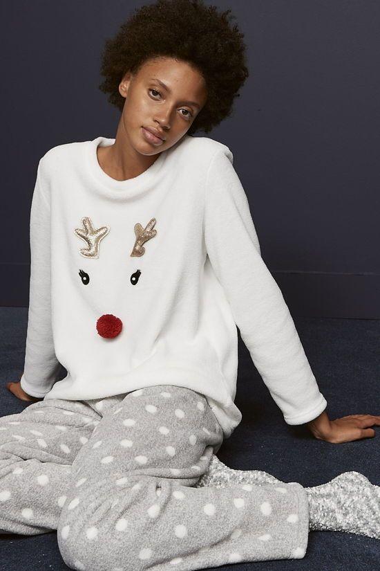 pijama de mujer primark con motivo de reno