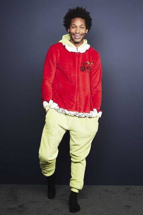 pijama entero de el grinch hombre