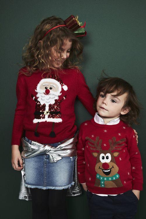 jersey niños navideño con papa noel reno