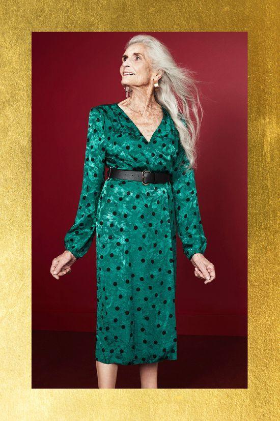vestido verde con lunares para fiesta