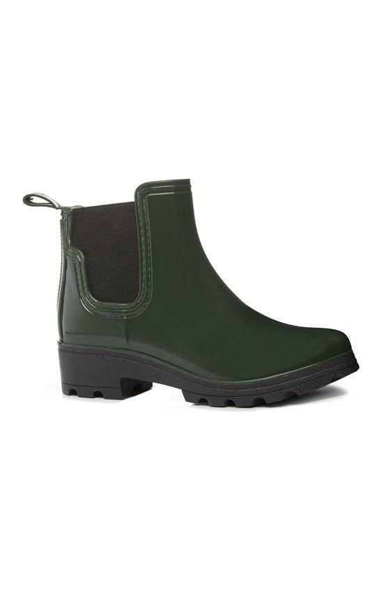 botas de agua primark mujer chelsea verdes