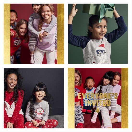 pijamas navidad niños niñas primark