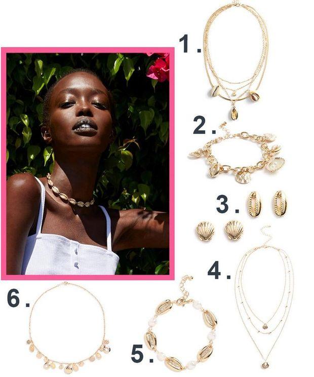 pulseras de amuletos primark pendientes de boton de conchas mujer collares multicadena