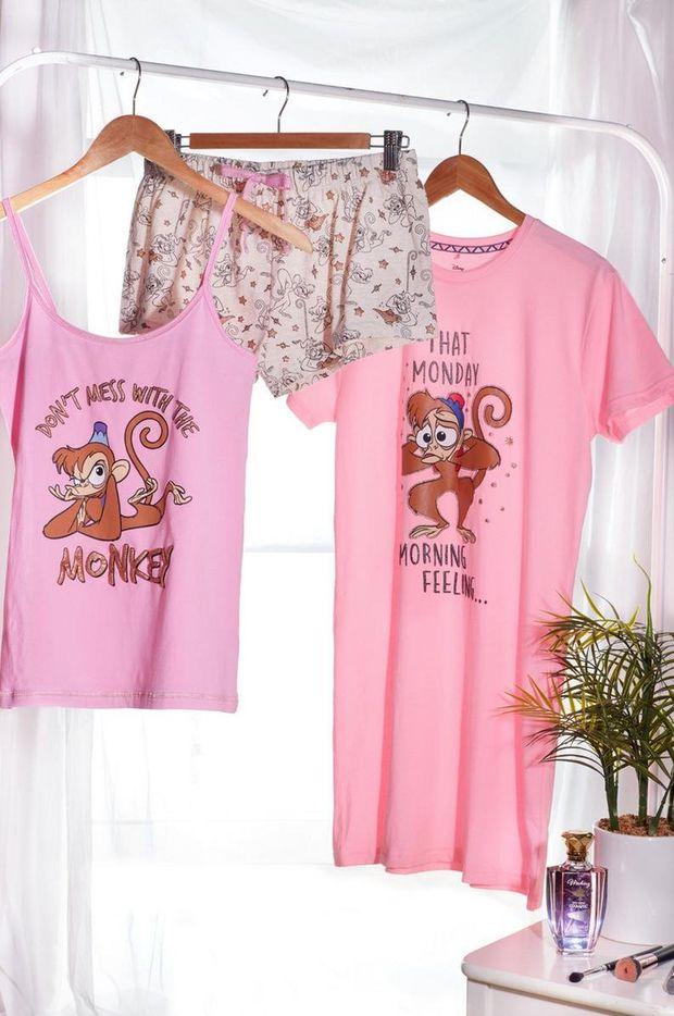 conjunto de camiseta aladdin pantalon corto pijama primark mujer camiseta para dormir de abu