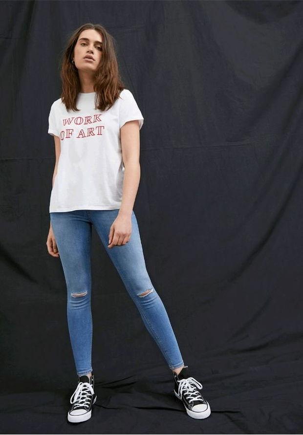 camiseta de algodon primark vaquero azul mujer de algodon sostenible