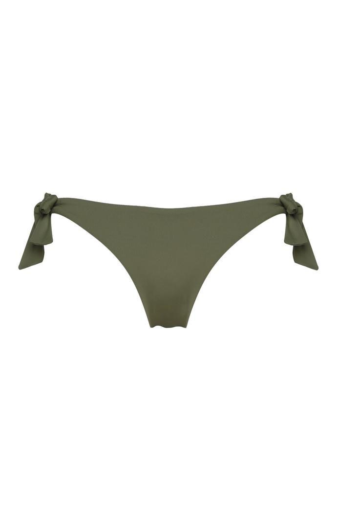Braguita de bikini Primark color caqui con lazos laterales