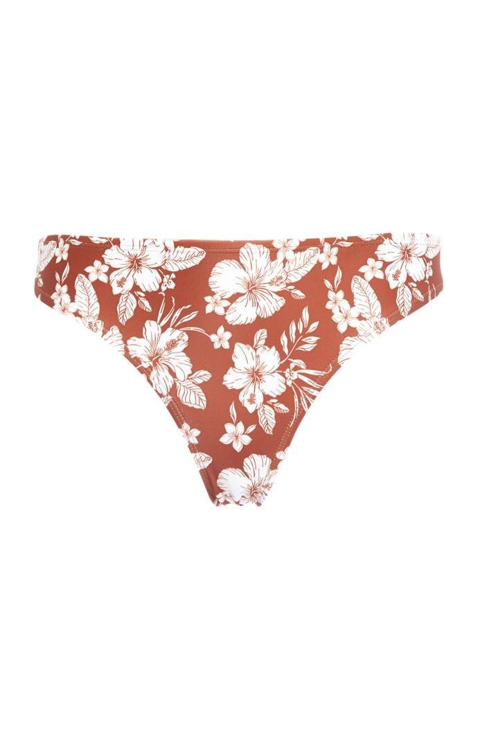 Braguita de bikini Primark con estampado de flores en color teja