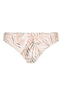 Braguita de bikini con estampado de hojas rosa y blanco