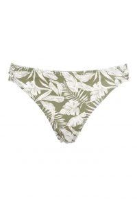 Braguita de bikini verde con estampado de palmeras