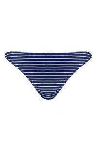 Braguitas de bikini azul a rayas
