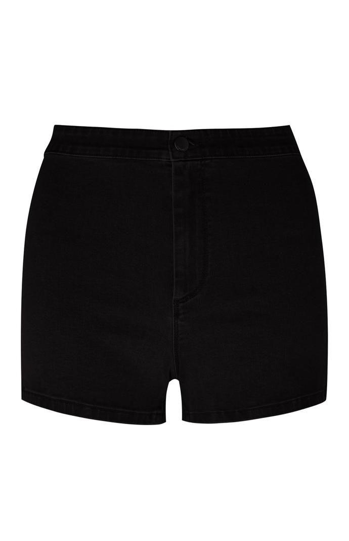 Pantalón corto Primark de talle alto y perneras ceñidas en negro