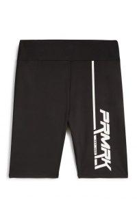 Pantalón corto negro con estampado