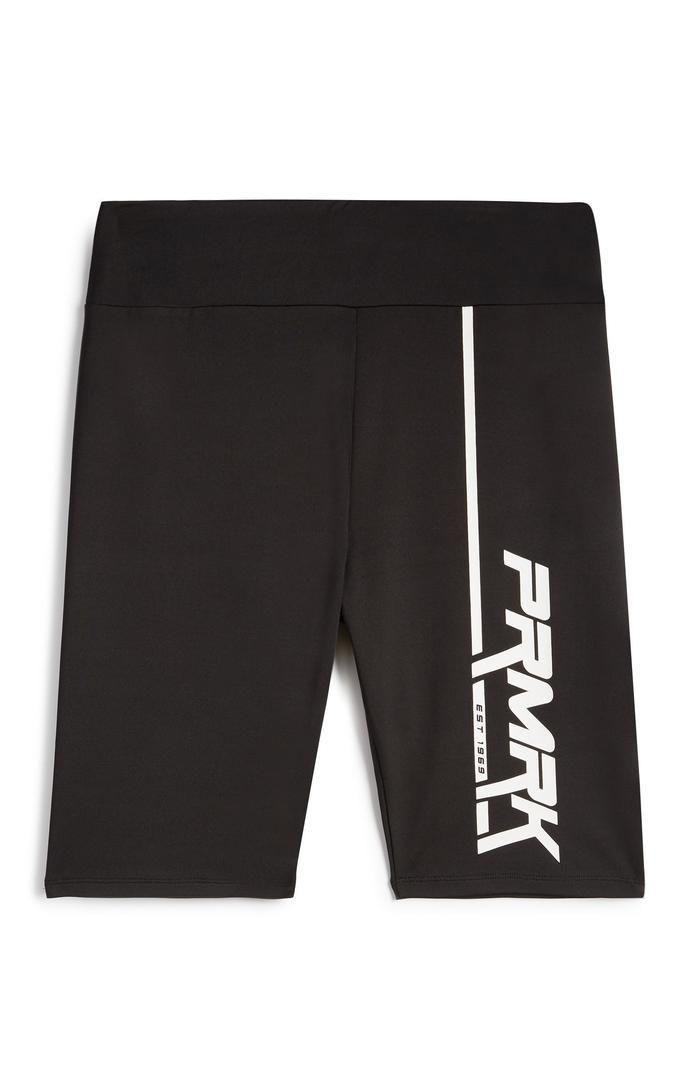 Pantalón corto Primark negro con estampado