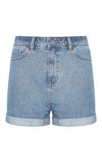 Pantalón corto vaquero azul de talle alto