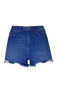 Pantalón corto vaquero de talle alto azul