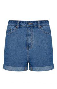 Pantalón corto vaquero de tiro alto azul
