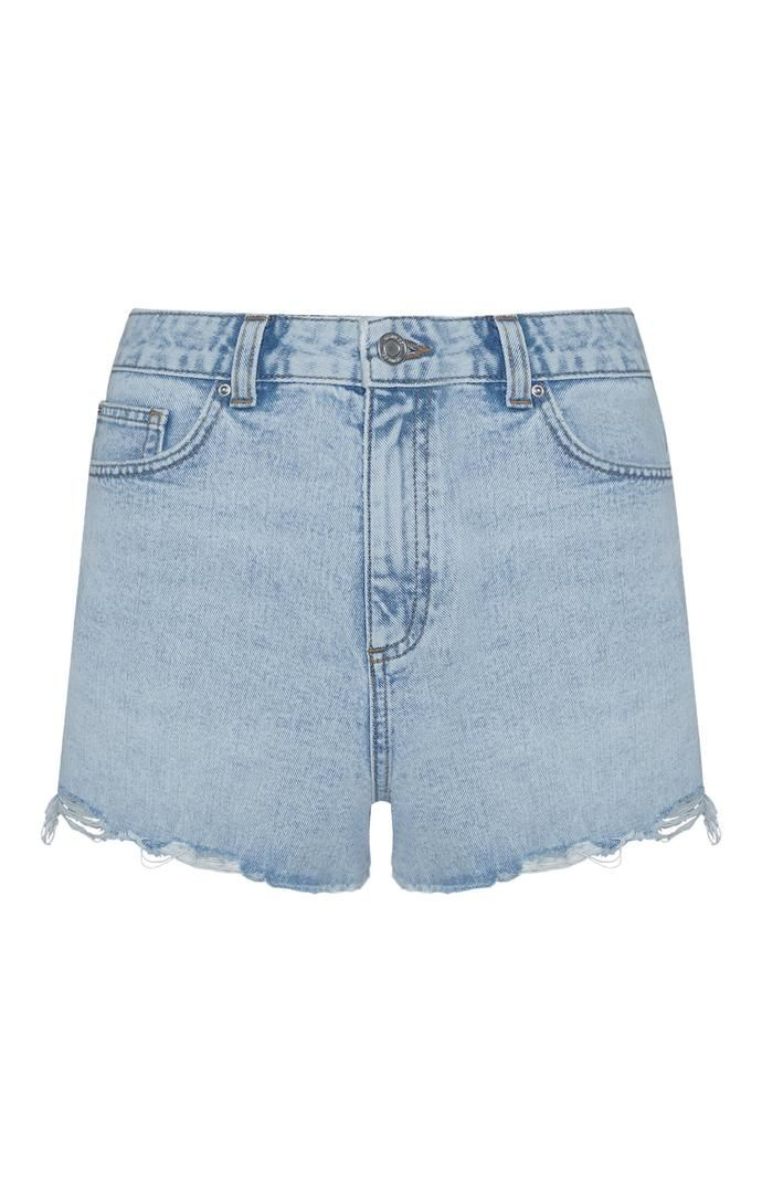 Pantalón vaquero Primark sin rematar en color azul Authentic