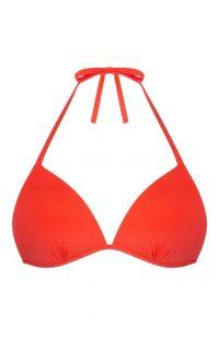Top de bikini triangular moldeado coral