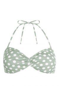 Top de bikini triangular moldeado verde claro