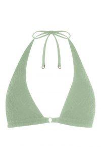 Top de bikini triangular verde claro