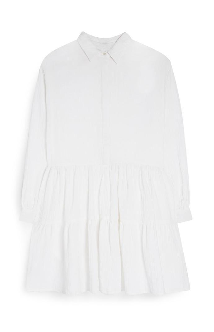Vestido Primark camisero a capas de tela doble