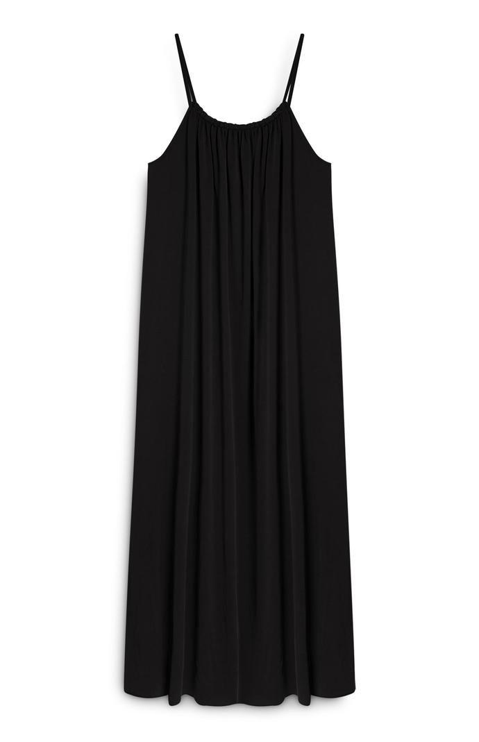 Vestido Primark largo de modal con tirantes negro